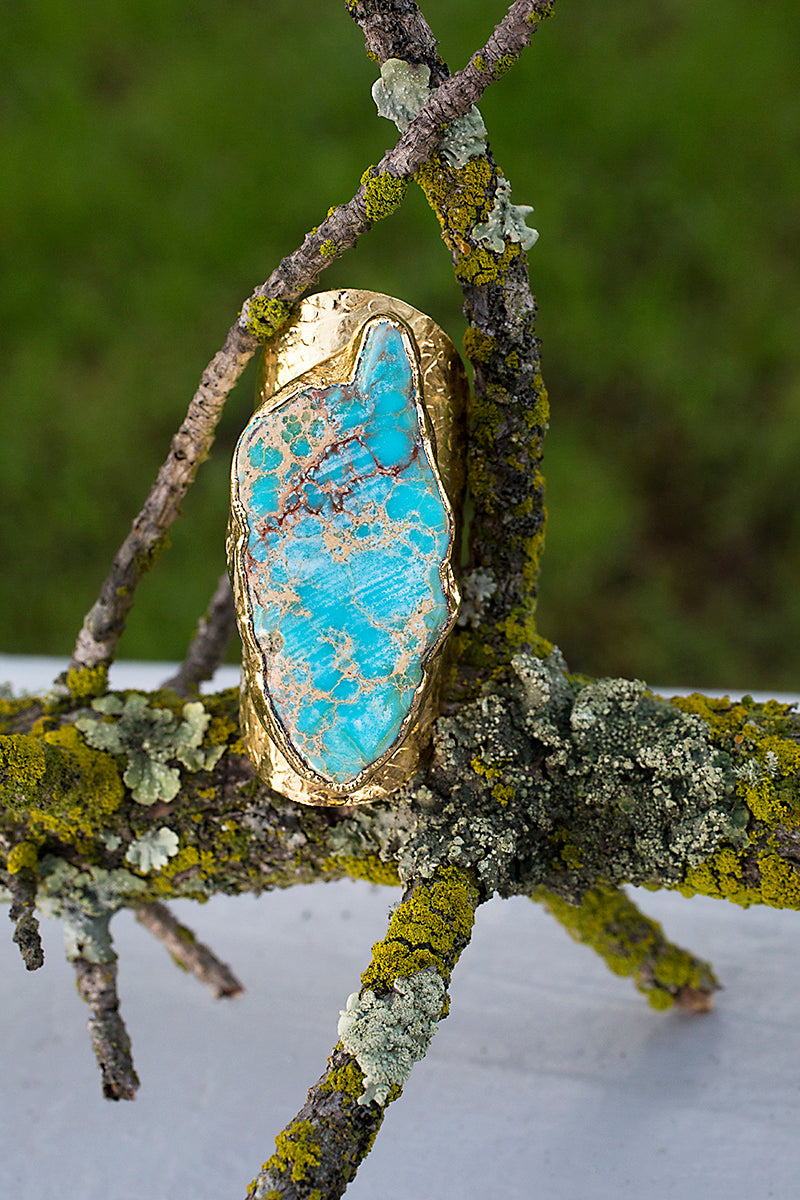 turquoise cigar band ring