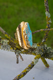 cigar band turquoise ring