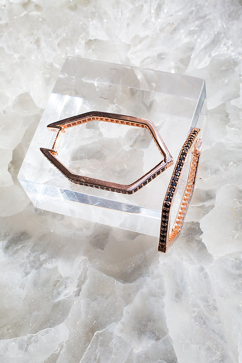 covertible rose gold hoop