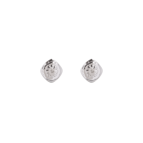 Boh Runga - Marigold Mini Stud Earrings, Silver