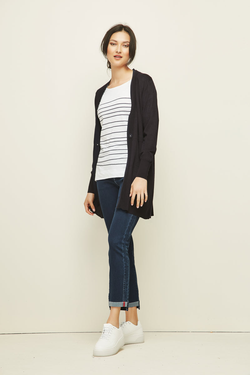 Verge - View Top Stripe, Blue Velvet