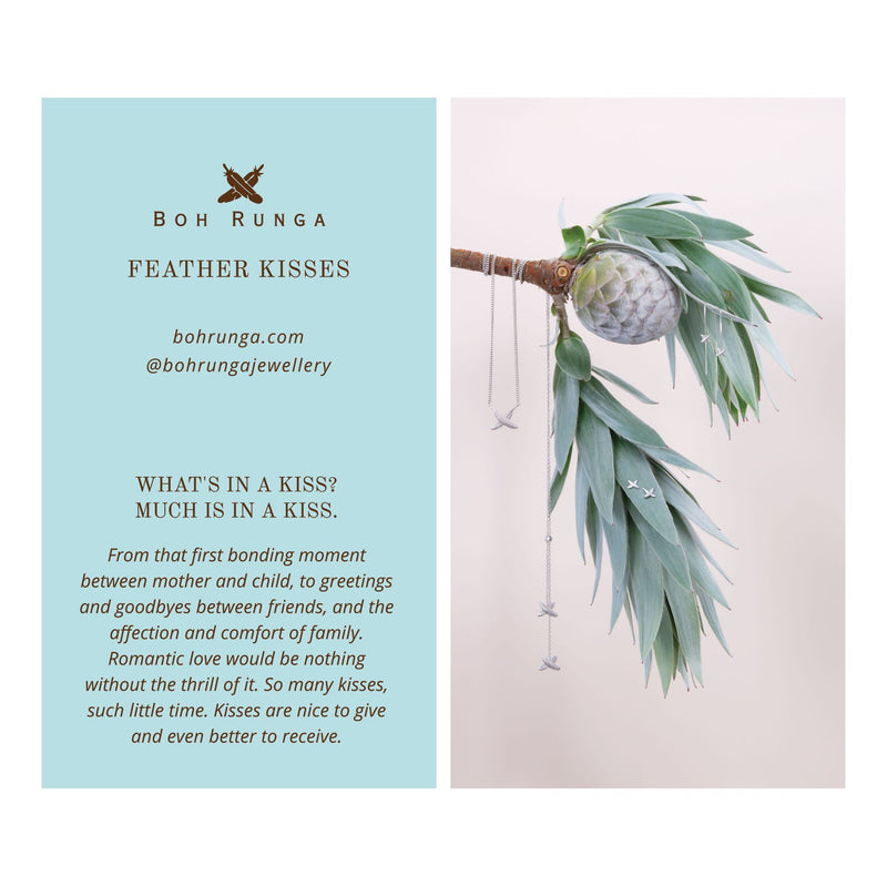 Boh Runga - Feather Kisses Earrings, Silver