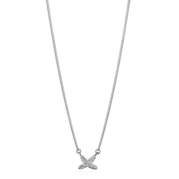 Boh Runga - Feather Kisses Pendant Petite, Silver
