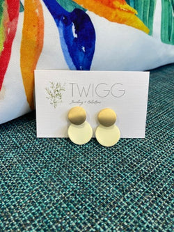 Twigg - Flutter Double Earrings, Cream