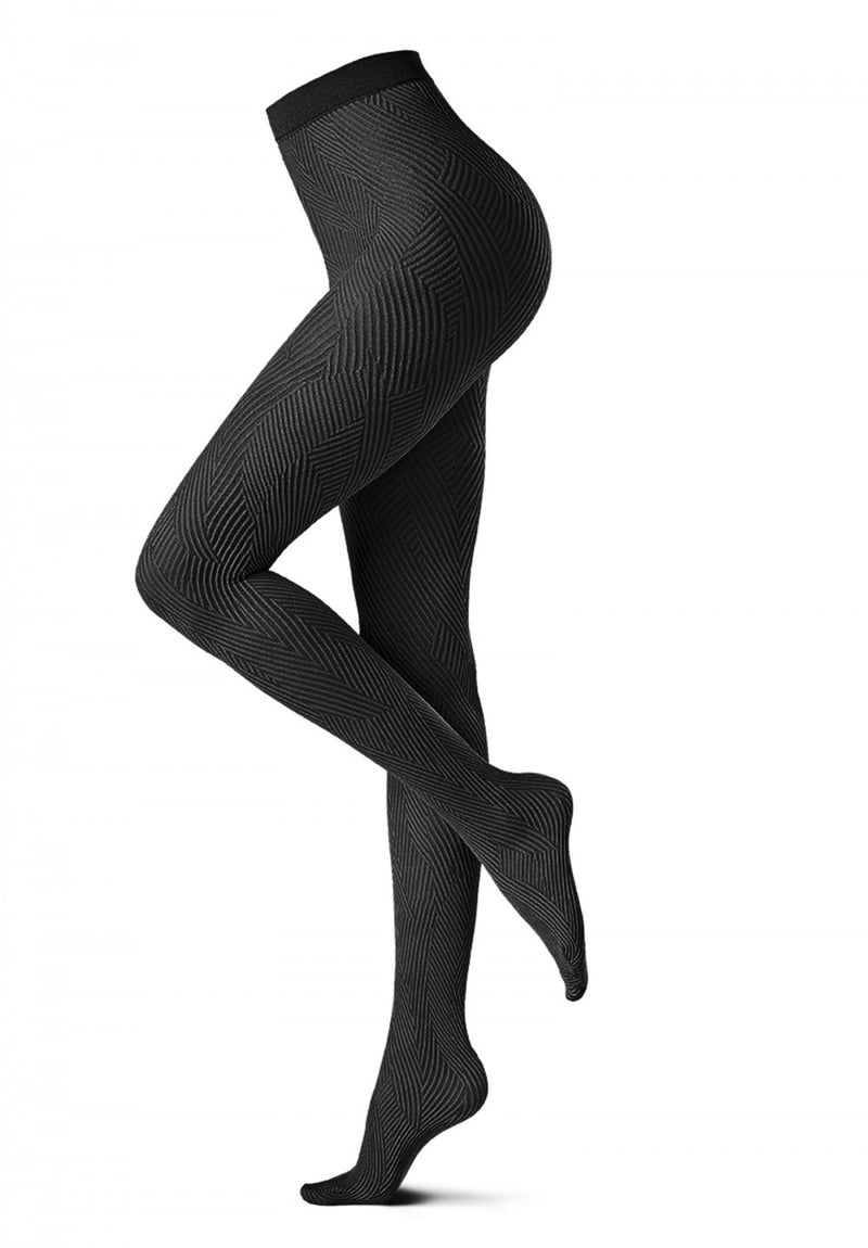 Oroblu - Oroblu Black Abstract Tights, Black