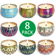 Load image into Gallery viewer, 8 Piece Assorted Scented Candles