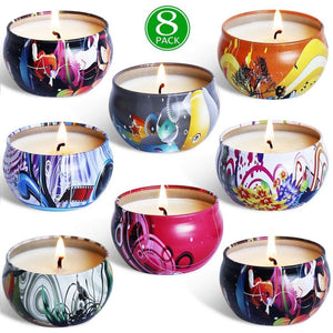 8 Piece Assorted Scented Candles