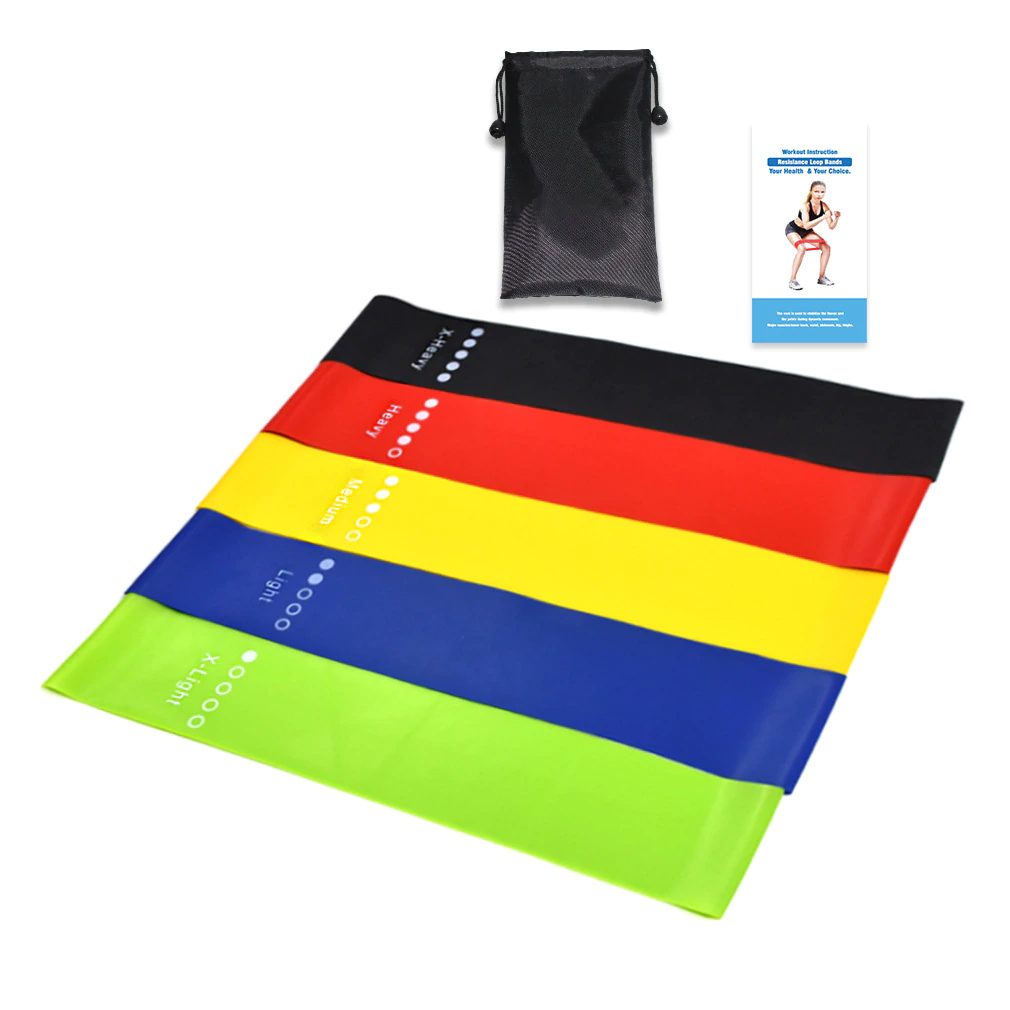 Resistance Bands - 5 Strength Levels