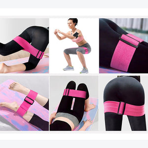 Fully Adjustable - Hip/Glute Resistance Band Set