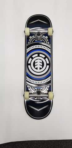 Element Hatched Blue 8'0 Skateboard