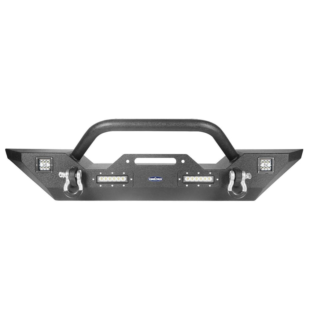 Different Trail Front Bumper w/Winch Plate for Jeep Wrangler JL 2018-2019 BXG543 Jeep JL  Accessories 4