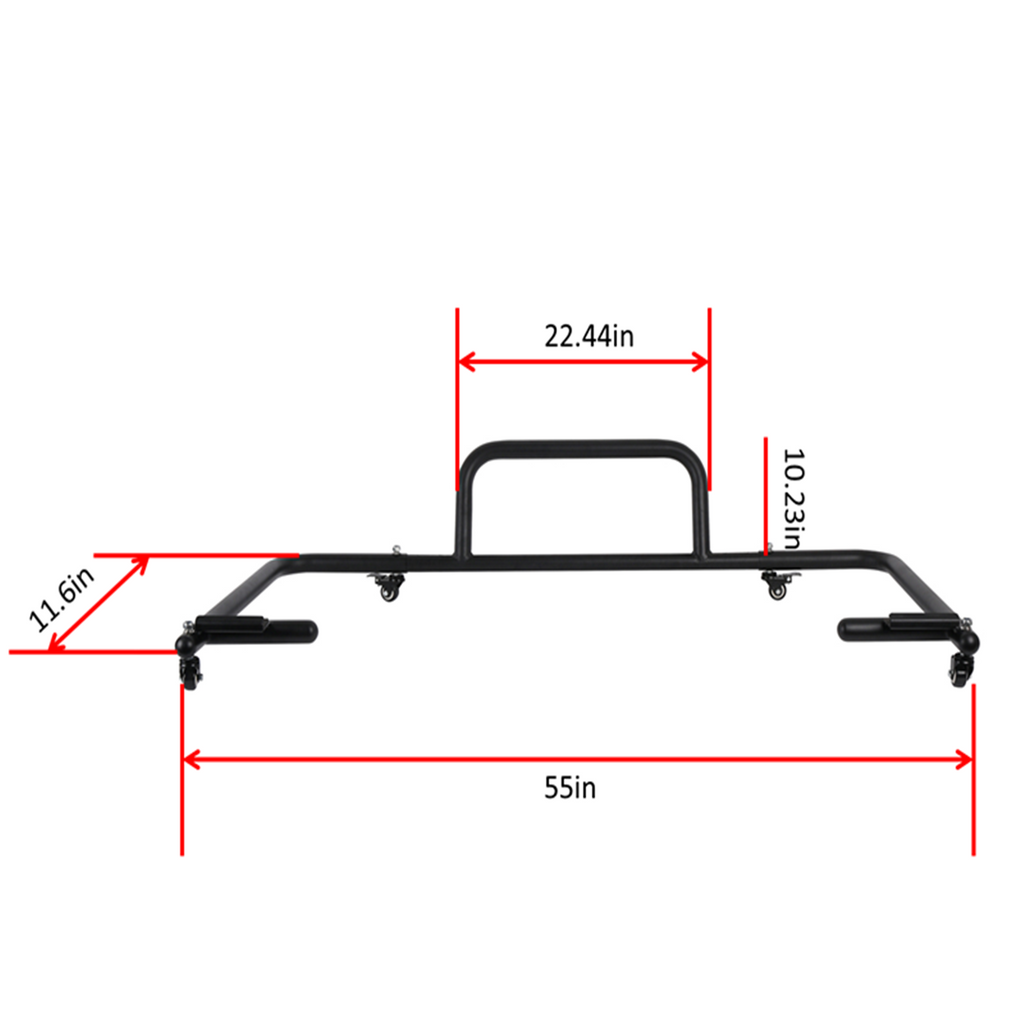 Hard Top Carrier Storage Cart Sliding for 07-08 Jeep JK  6