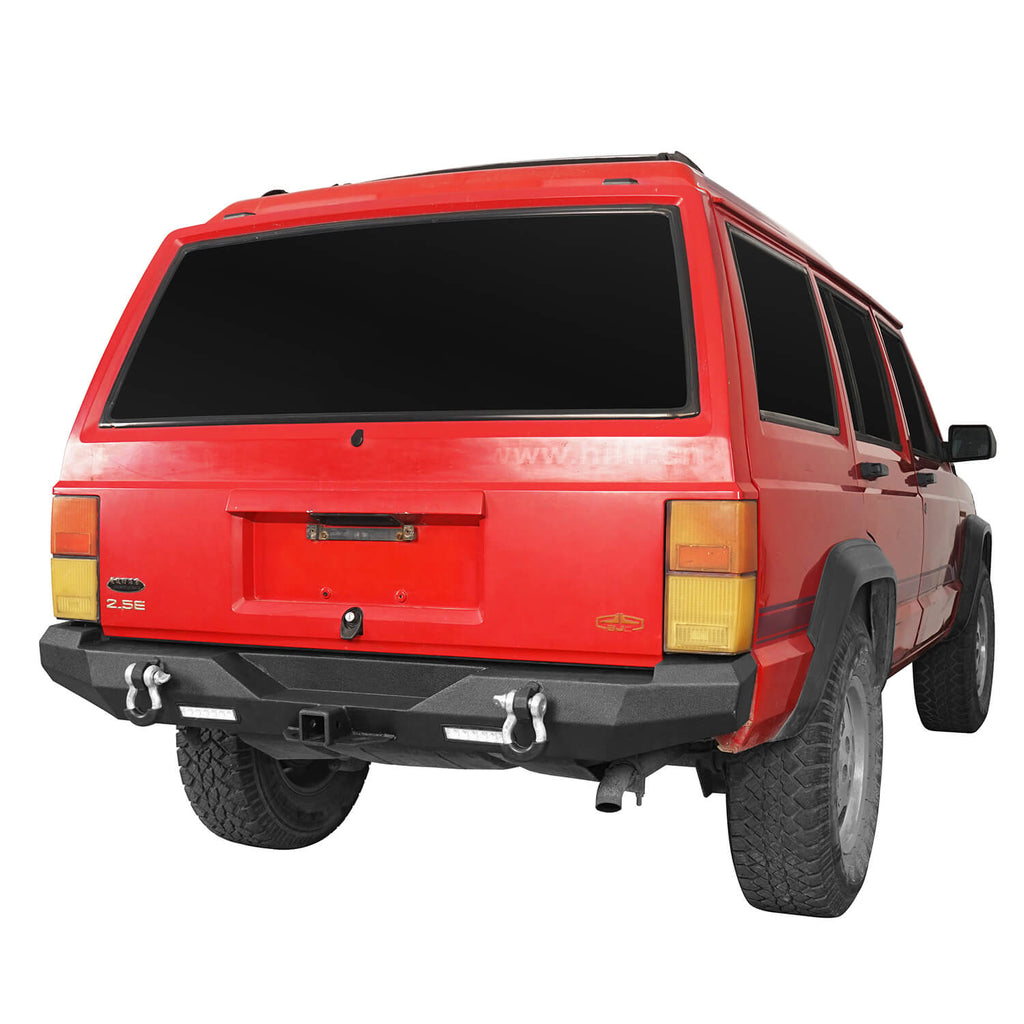 Destroyer Rear Bumper w/2 ×18W LED Floodlights for Jeep Cherokee XJ 1984-2001 BXG321 3