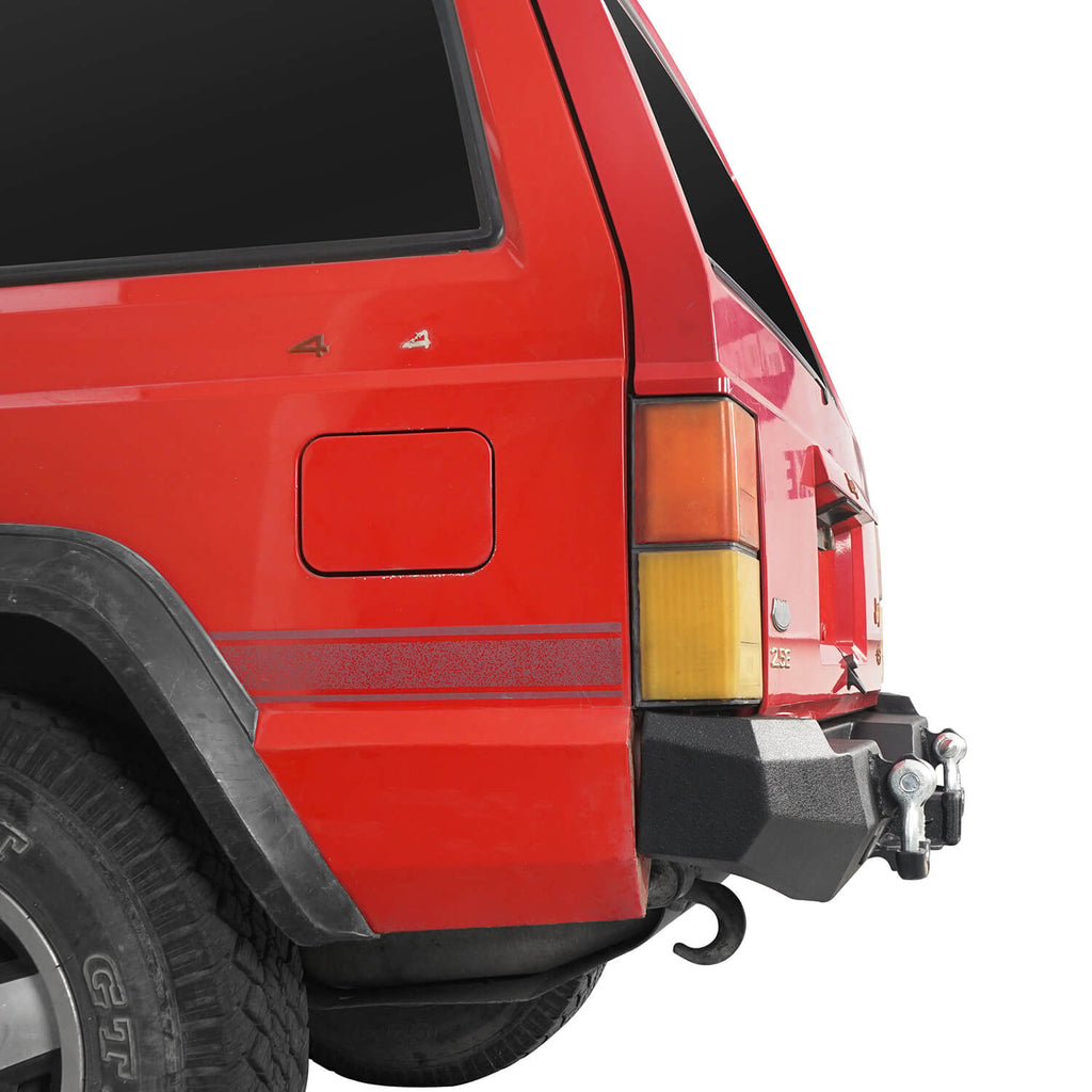 Destroyer Rear Bumper w/2 ×18W LED Floodlights for Jeep Cherokee XJ 1984-2001 BXG321 6
