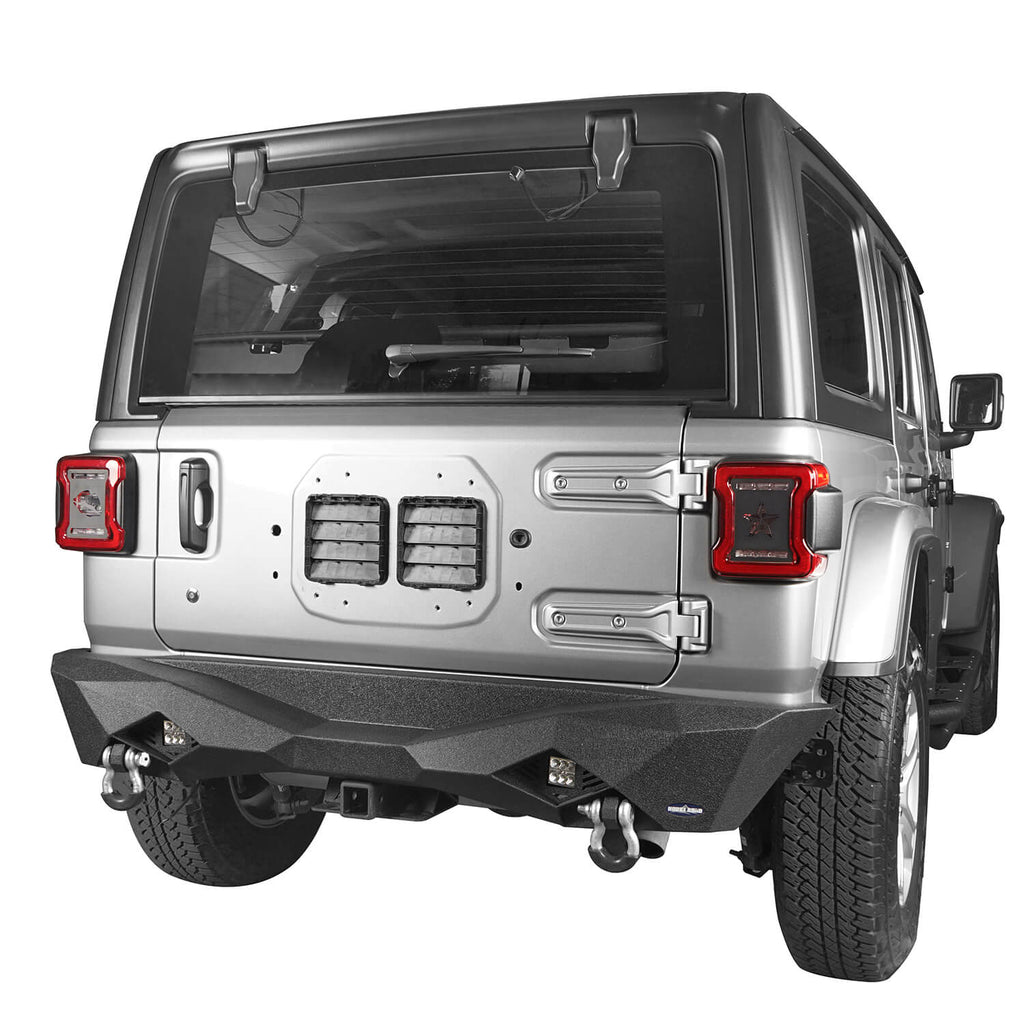 Jeep JL Rear Bumper w/Hitch Receiver for 2018-2020 Jeep Wrangler JL BXG502  2