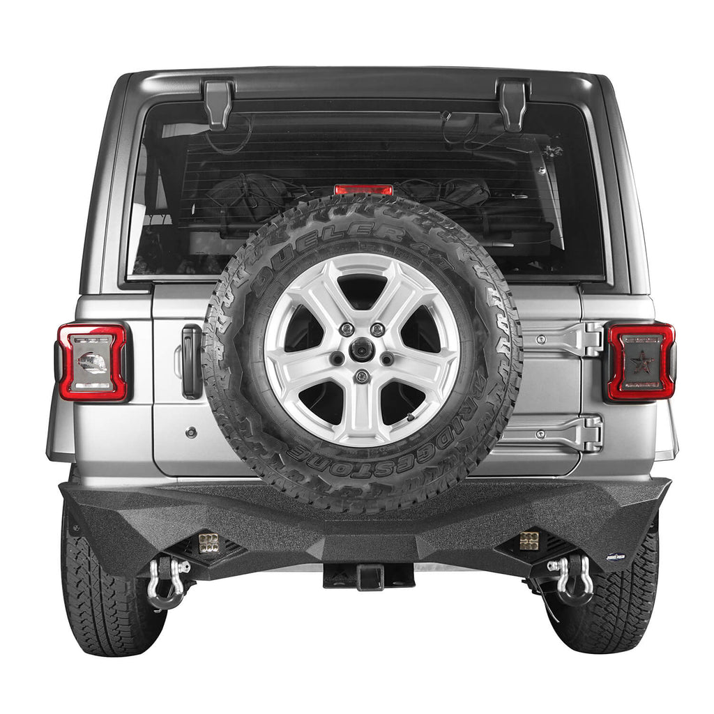 Jeep JL Rear Bumper w/Hitch Receiver for 2018-2020 Jeep Wrangler JL BXG502  3