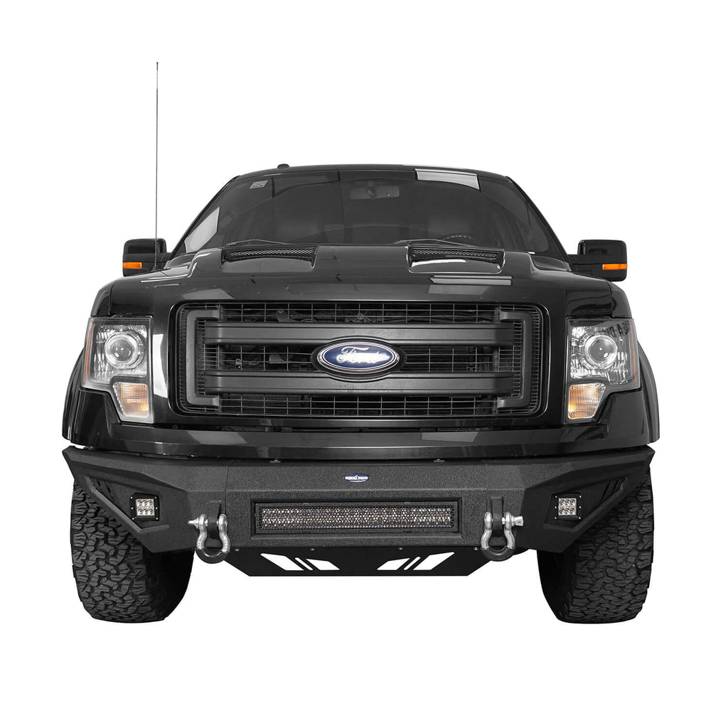 F-150 Ford Full Width Front Bumper for 2009-2014 Ford F-150, Excluding Raptor bxg8201 3