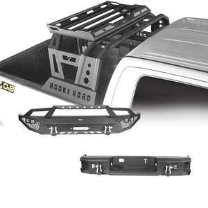 Front Bumper, Back Bumper, Roll Bar Bed Rack(14-21 Toyota Tundra)