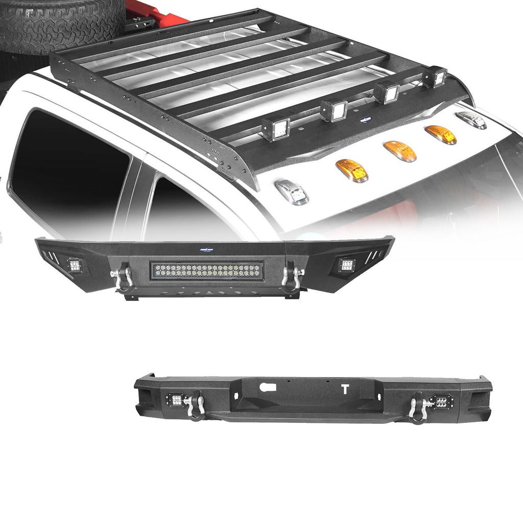 Front Bumper, Back Bumper, Roof Rack(14-21 Toyota Tundra)