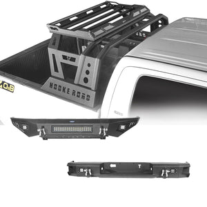 Front Bumper, Rear Bumper, Roll Bar Bed Rack(14-21 Toyota Tundra)