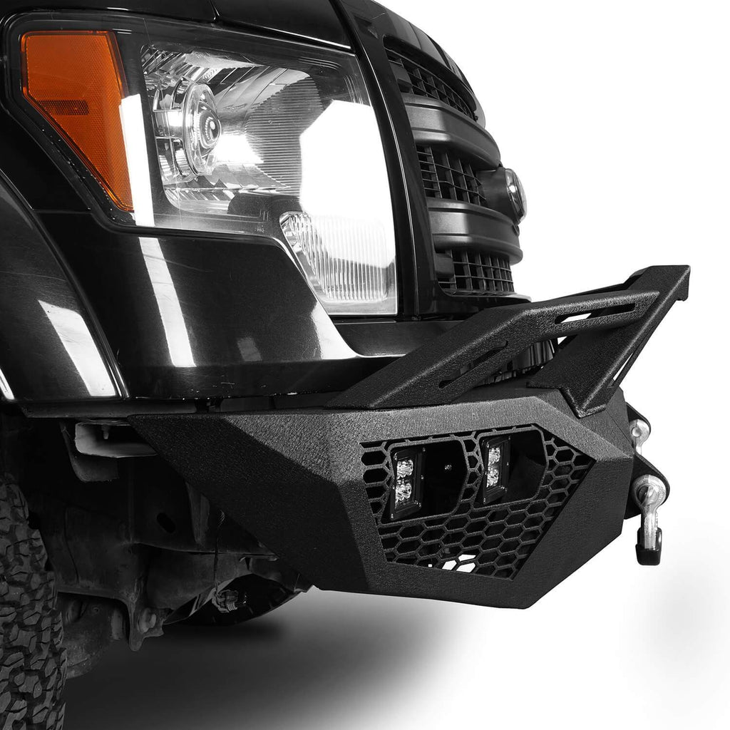 Full Width Front Bumper w/Grill Guard(09-14 Ford F-150, Excluding Raptor)