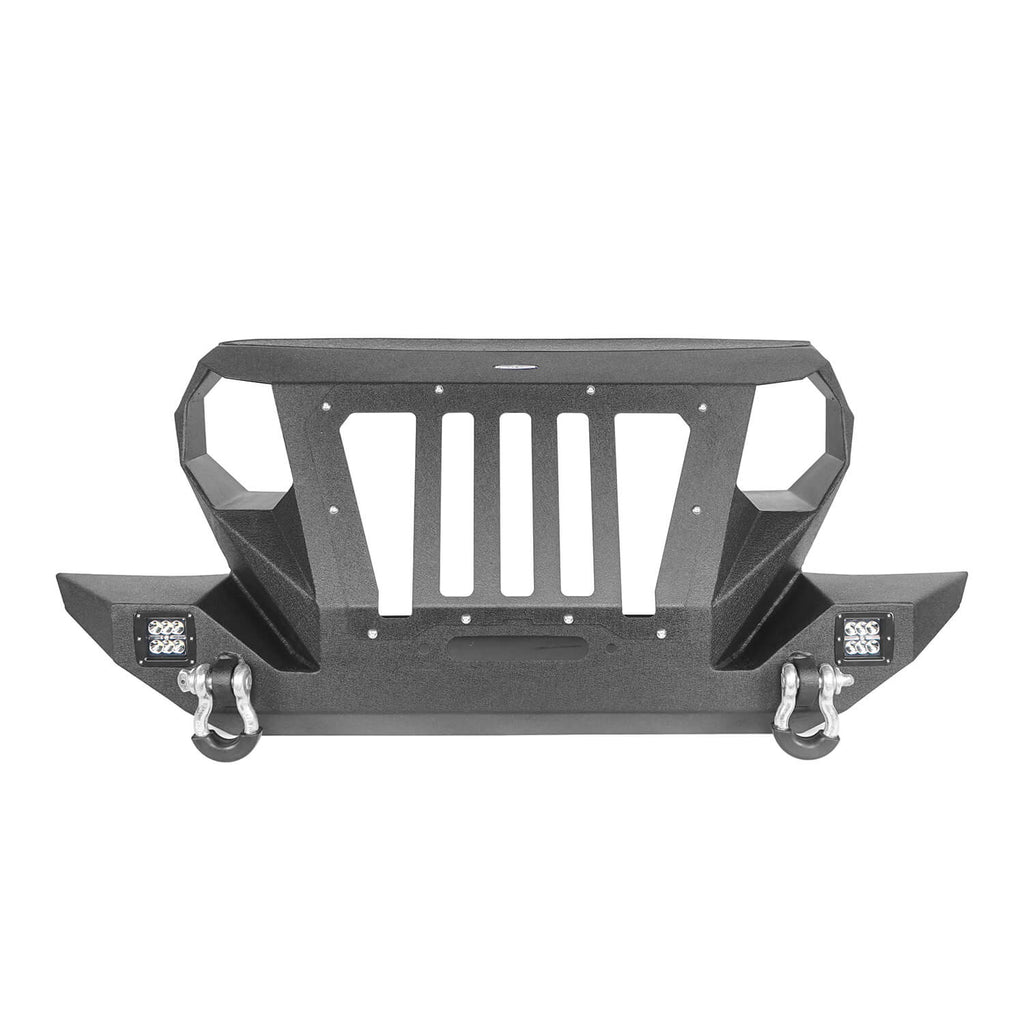 Front Bumper with 2 D-Rings & Winch Plate for 1997-2006 TJ BXG172 Offroad 5