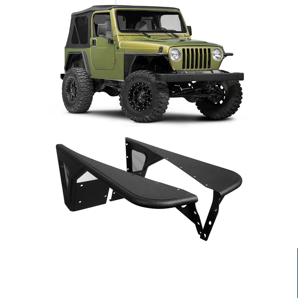 Jeep TJ Front Fender Flares Armor Wheel Fenders for 1997-2006 Jeep Wrangler TJ bxg058 1