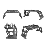 Full Width Front Bumper, Rear Bumper, Roll Bar Cage Bed Rack Luggage Basket(13-18 Dodge Ram)