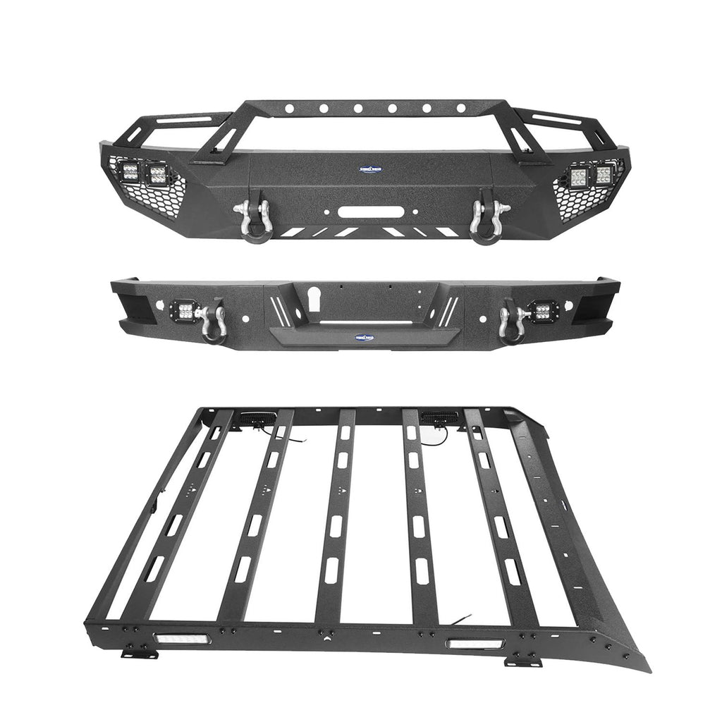 Full Width Front Bumper, Rear Bumper, Roof Rack(06-14 Ford F-150)