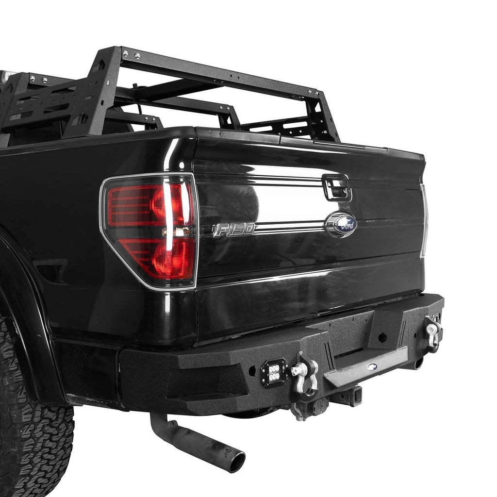 Full-Width Front Bumper w/Grill Guard & Rear Bumper Back Bumper(09-14 Ford F-150, Excluding Raptor)