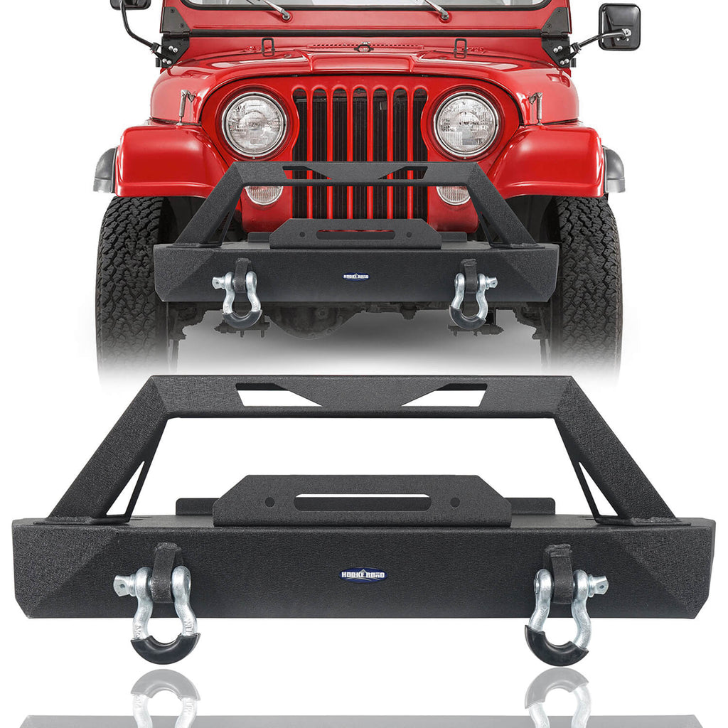 Jeep CJ Stubby Front Bumper with Winch Plate for 1976-1986 Jeep Wrangler CJ Offroad Jeep CJ Bumpers BXG9015 1