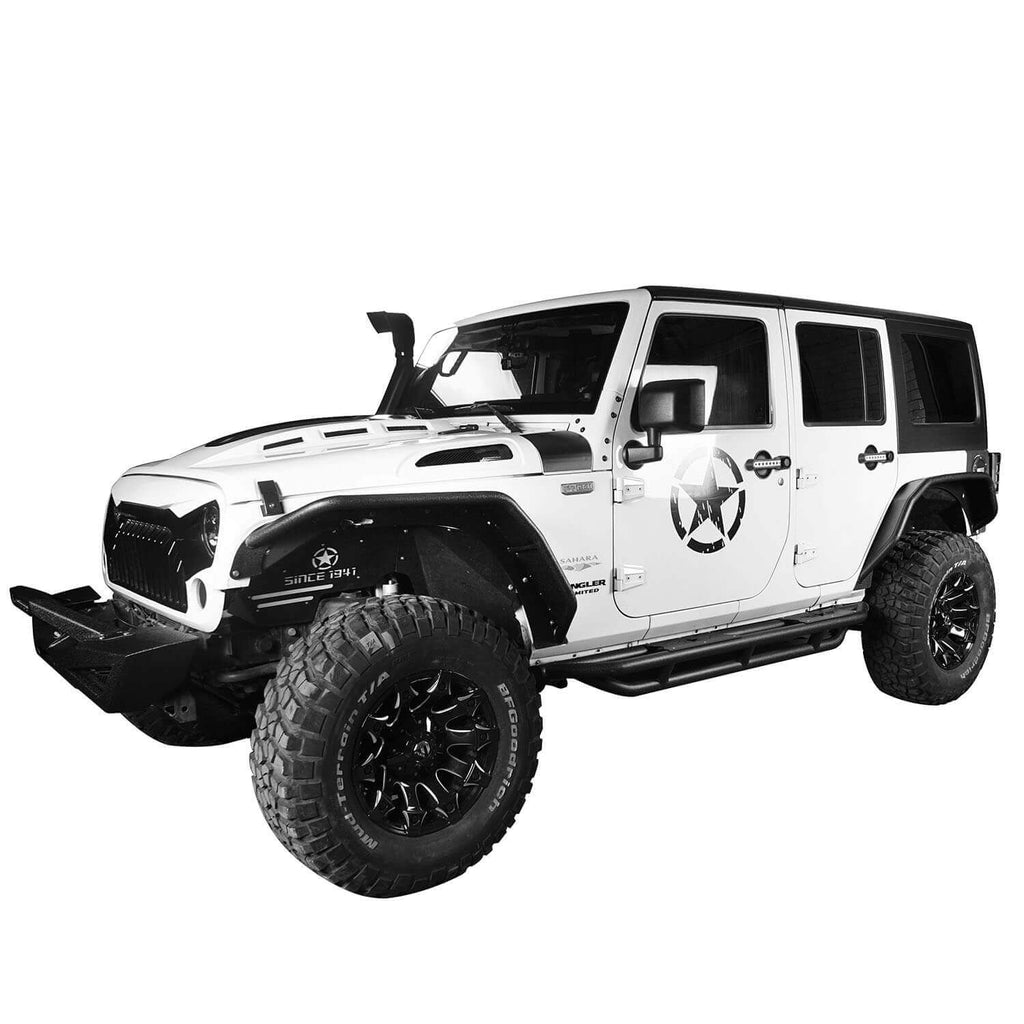 Flux Tubular Fender Flares For Jeep Wrangler JK 2007-2018 Jeep JK Parts BXG089 2