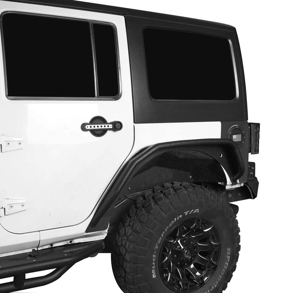 Flux Tubular Fender Flares For Jeep Wrangler JK 2007-2018 Jeep JK Parts BXG089 4