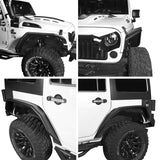 Flux Tubular Fender Flares For Jeep Wrangler JK 2007-2018 Jeep JK Parts BXG089 6