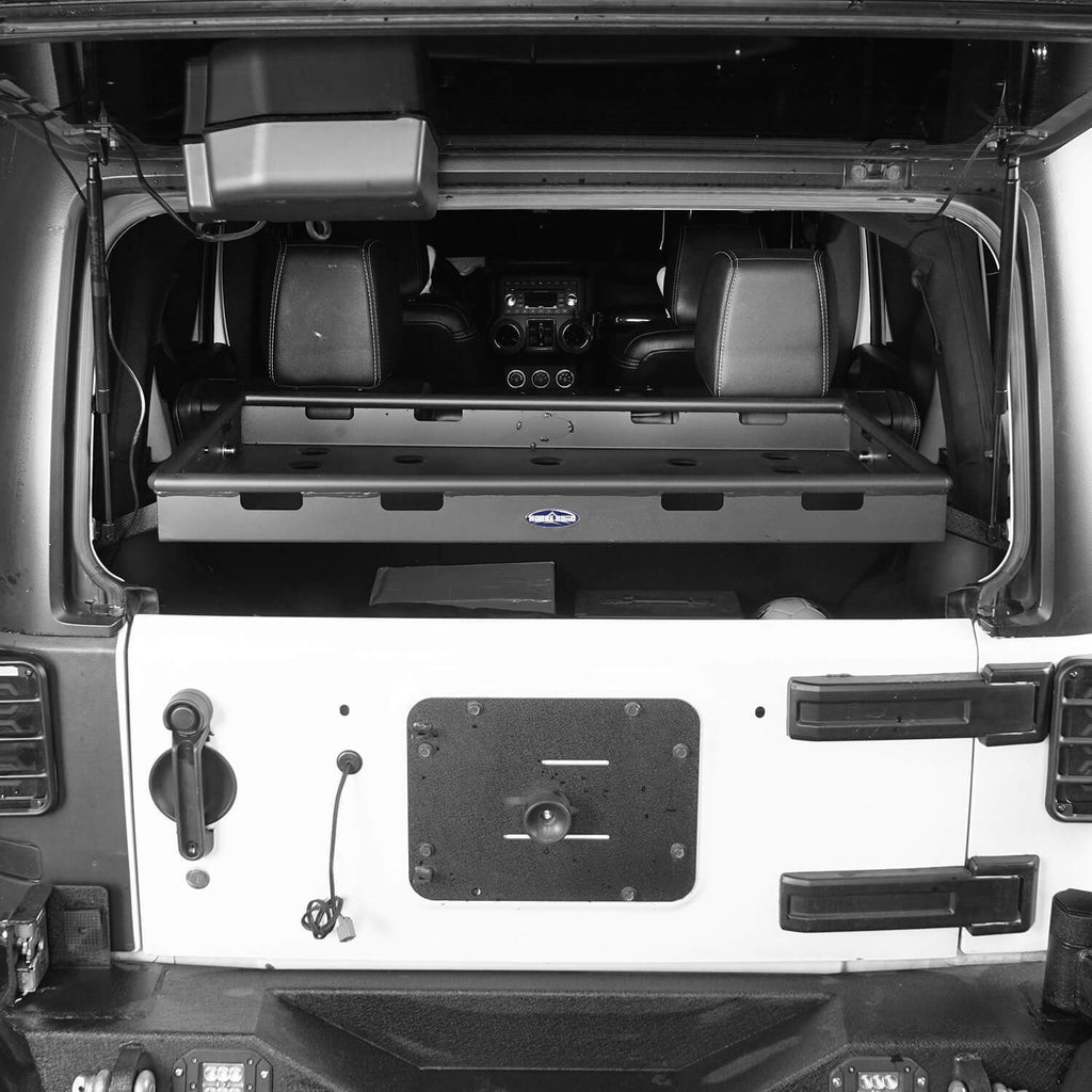 Jeep JK Interior Cargo Rack 4 Doors Jeep Wrangler Rear Cargo Rack for Jeep Wrangler JK JKU 2007-2018 BXG009 2
