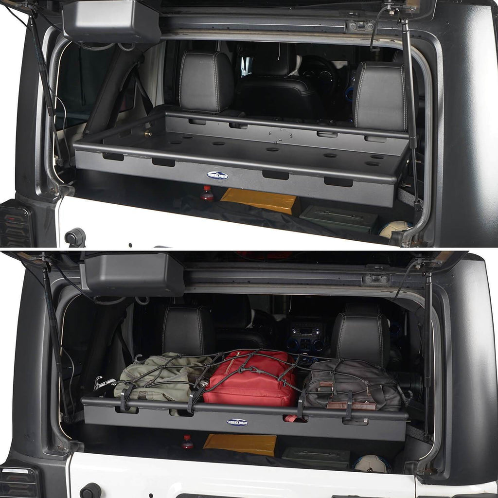 Jeep JK Interior Cargo Rack 4 Doors Jeep Wrangler Rear Cargo Rack for Jeep Wrangler JK JKU 2007-2018 BXG009 5