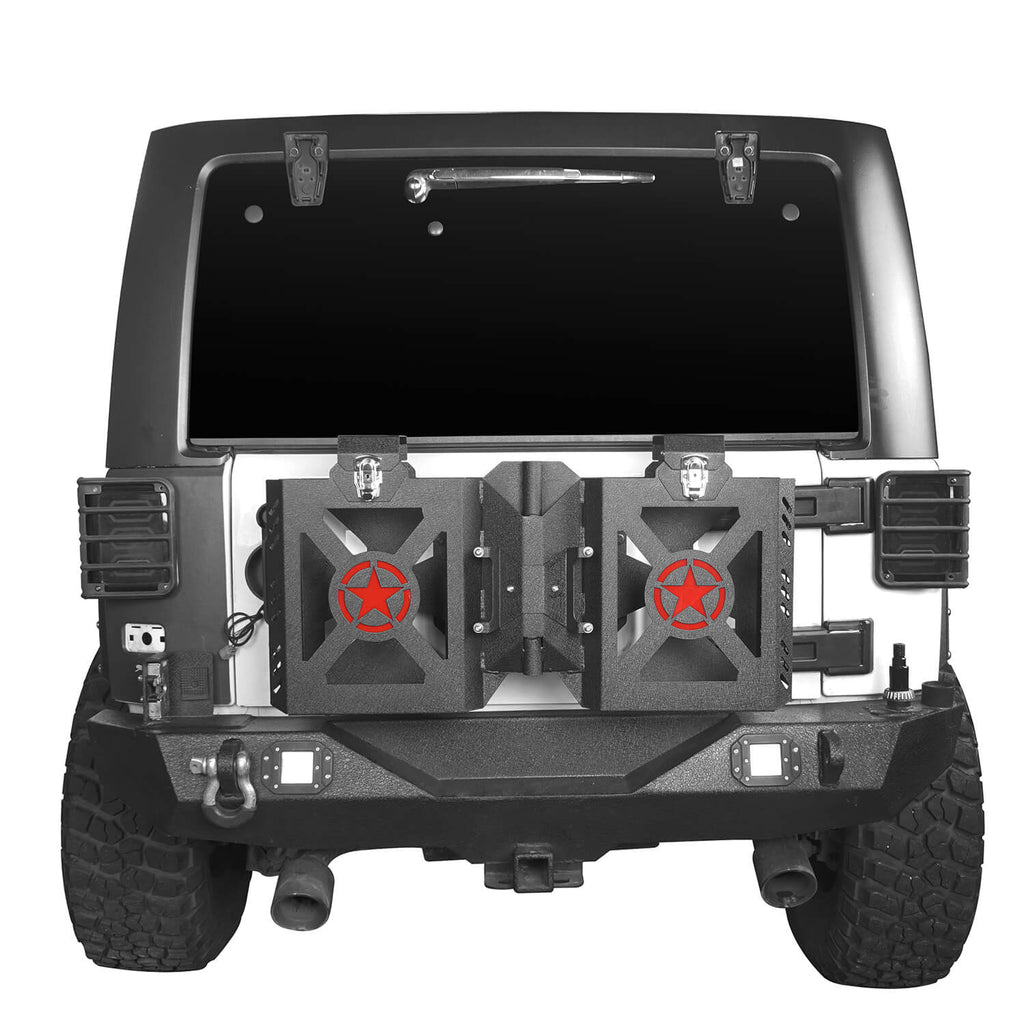 Jeep JK Jerry Gas Can Holder w/Tailgate Mount for 2007-2018 Jeep Wrangler JK bxg005 2