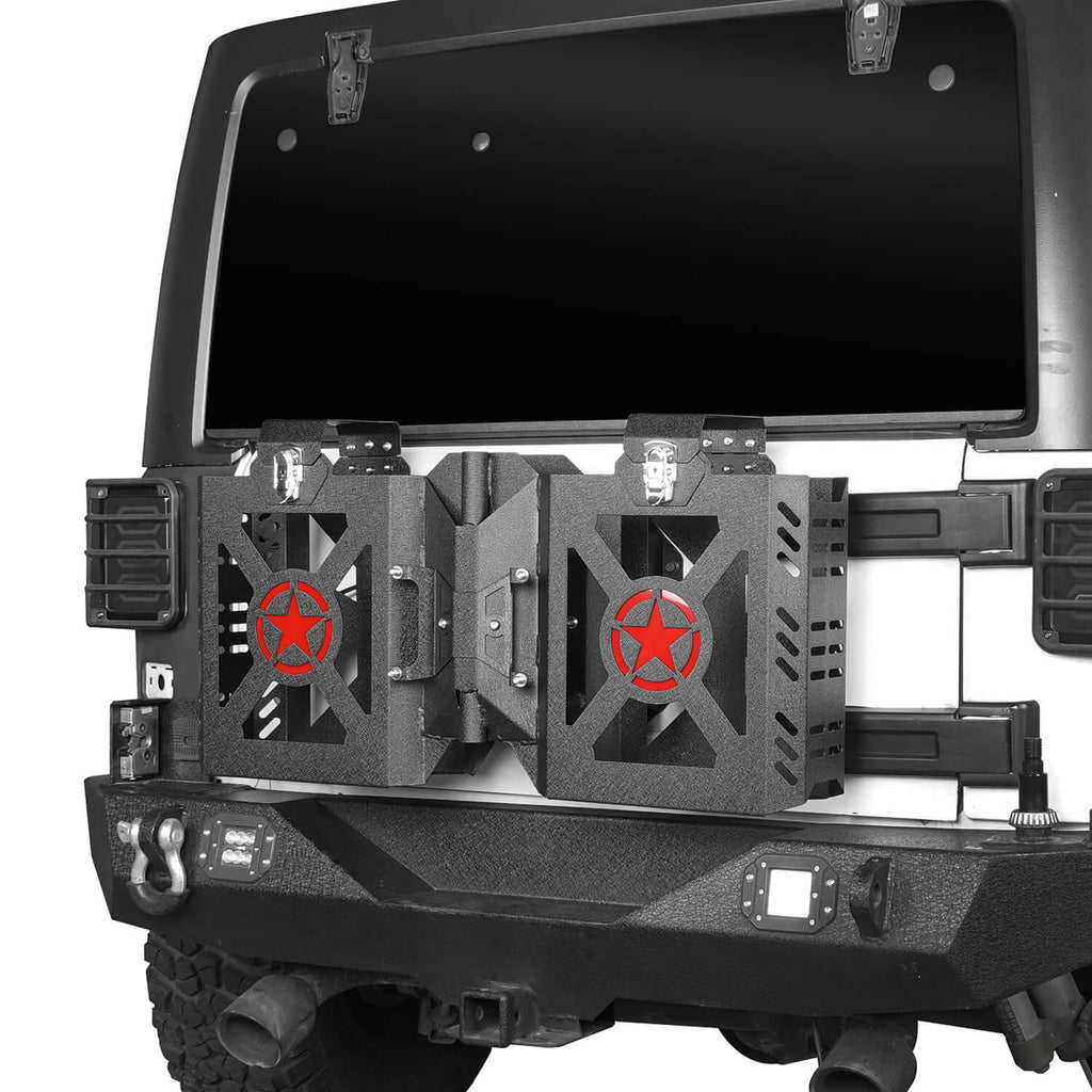Jeep JK Jerry Gas Can Holder w/Tailgate Mount for 2007-2018 Jeep Wrangler JK bxg005 3