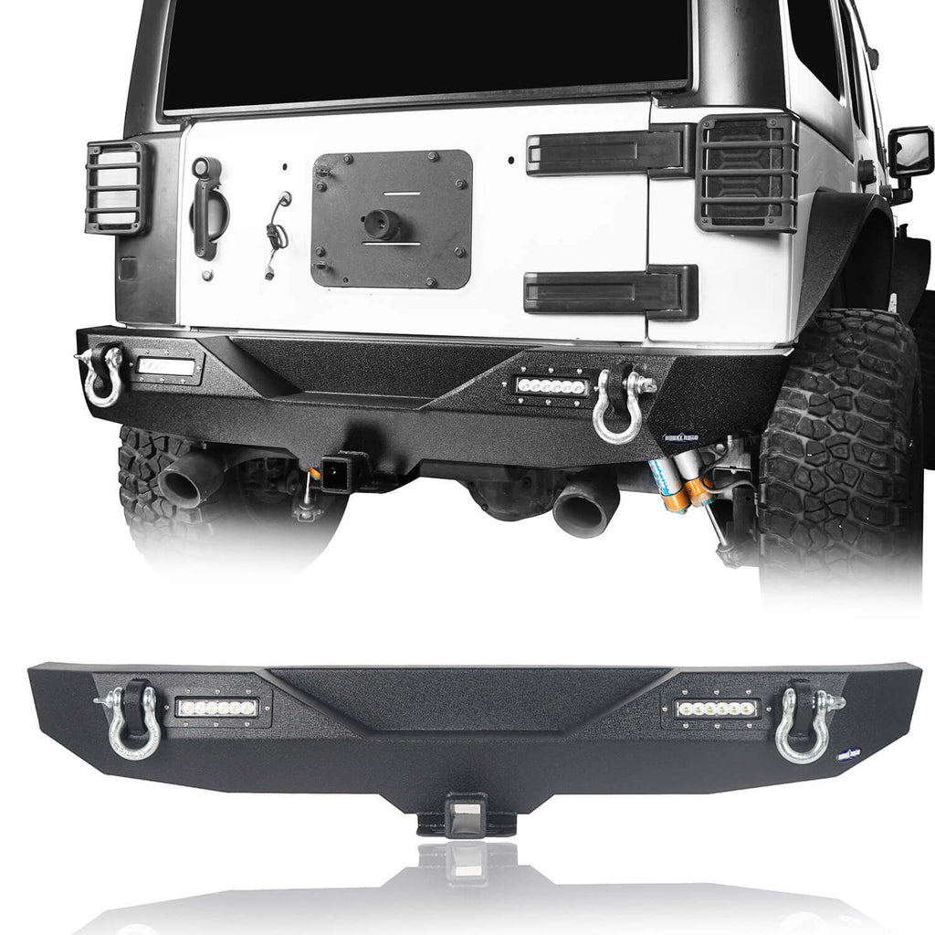 Jeep JK Rear Bumper w/Hitch Receiver Jeep Wrangler JK Back BumperJeep JK Back Bumper for 2007-2018 Jeep Wrangler JK BXG116 1