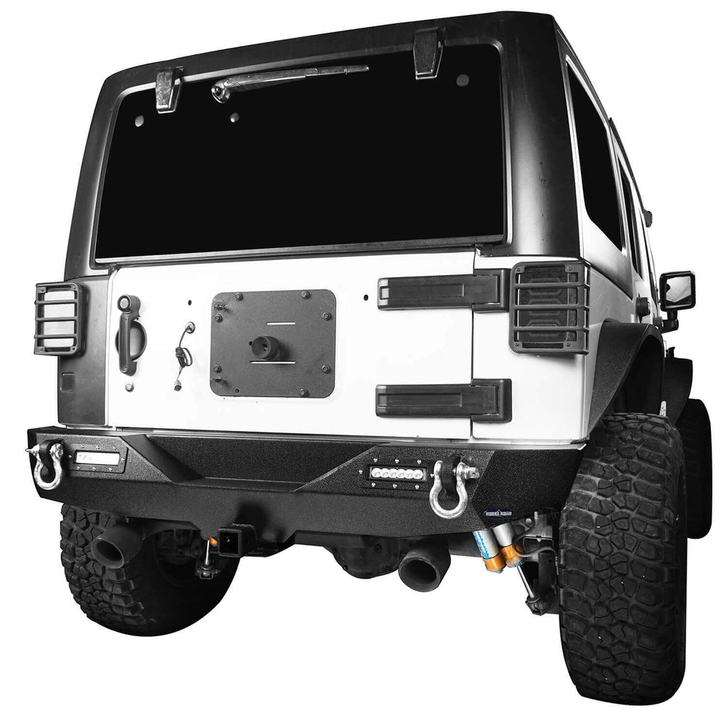 Jeep JK Rear Bumper w/Hitch Receiver Jeep Wrangler JK Back BumperJeep JK Back Bumper for 2007-2018 Jeep Wrangler JK BXG116 2