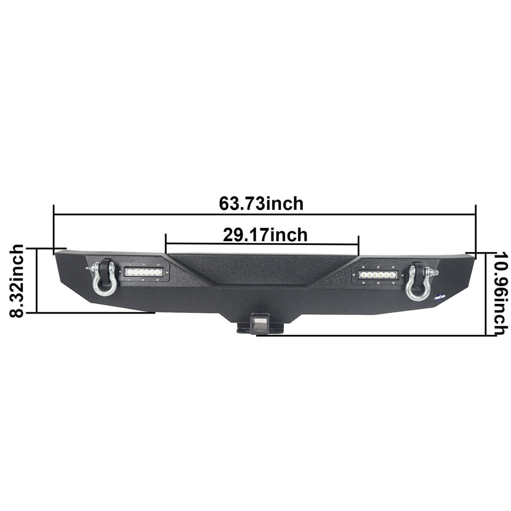 Jeep JK Rear Bumper w/Hitch Receiver Jeep Wrangler JK Back BumperJeep JK Back Bumper for 2007-2018 Jeep Wrangler JK BXG116 9