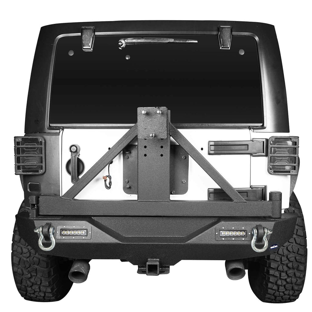 Jeep JK Explorer Rear Bumper with Tire Carrier and Hitch Receiver for Jeep Wrangler JK 2007-2018 BXG115 3