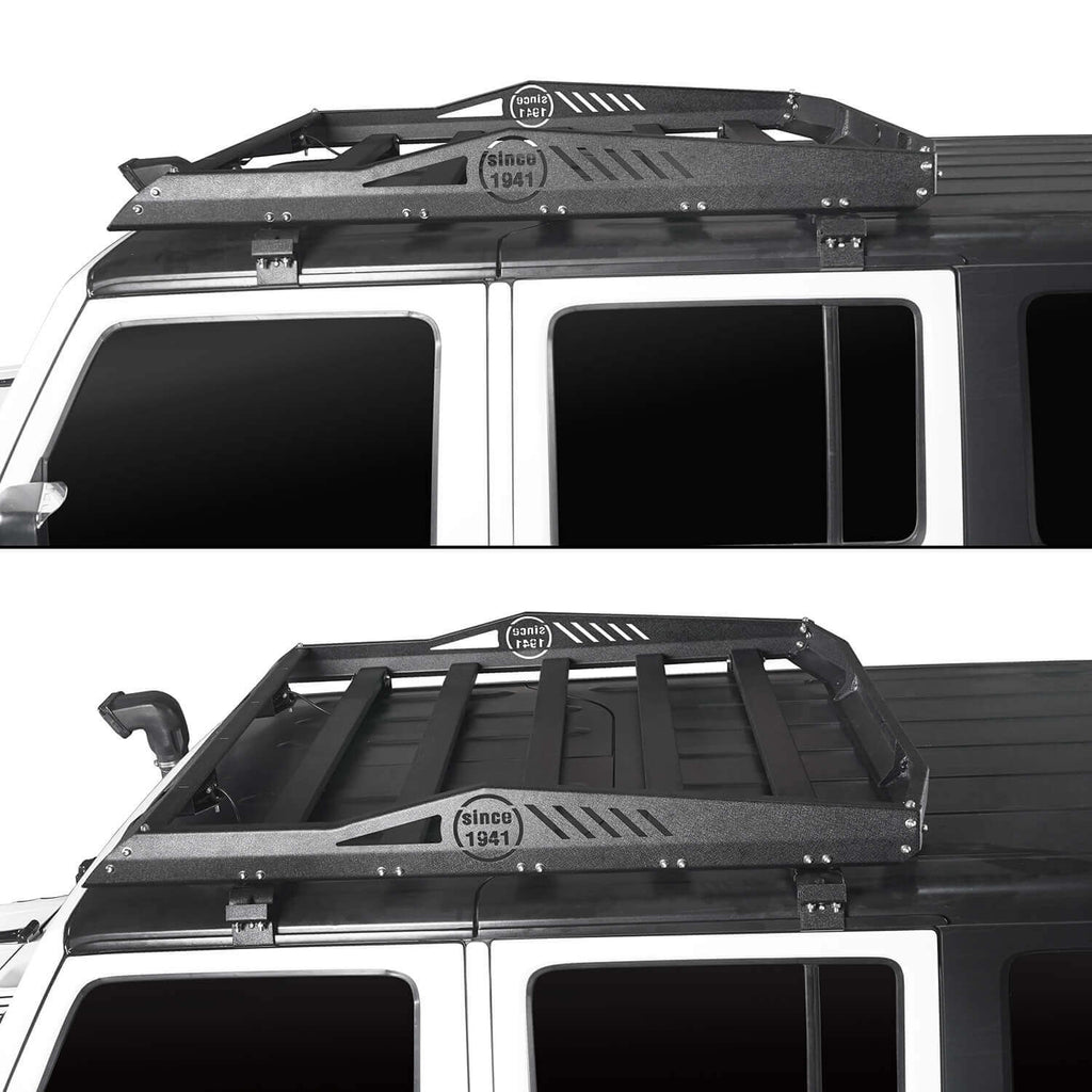 Ultralisk 4x4 Hard Top Front Roof Rack Cargo Carrier Basket(07-18 Jeep Wrangler JK 4 Doors)