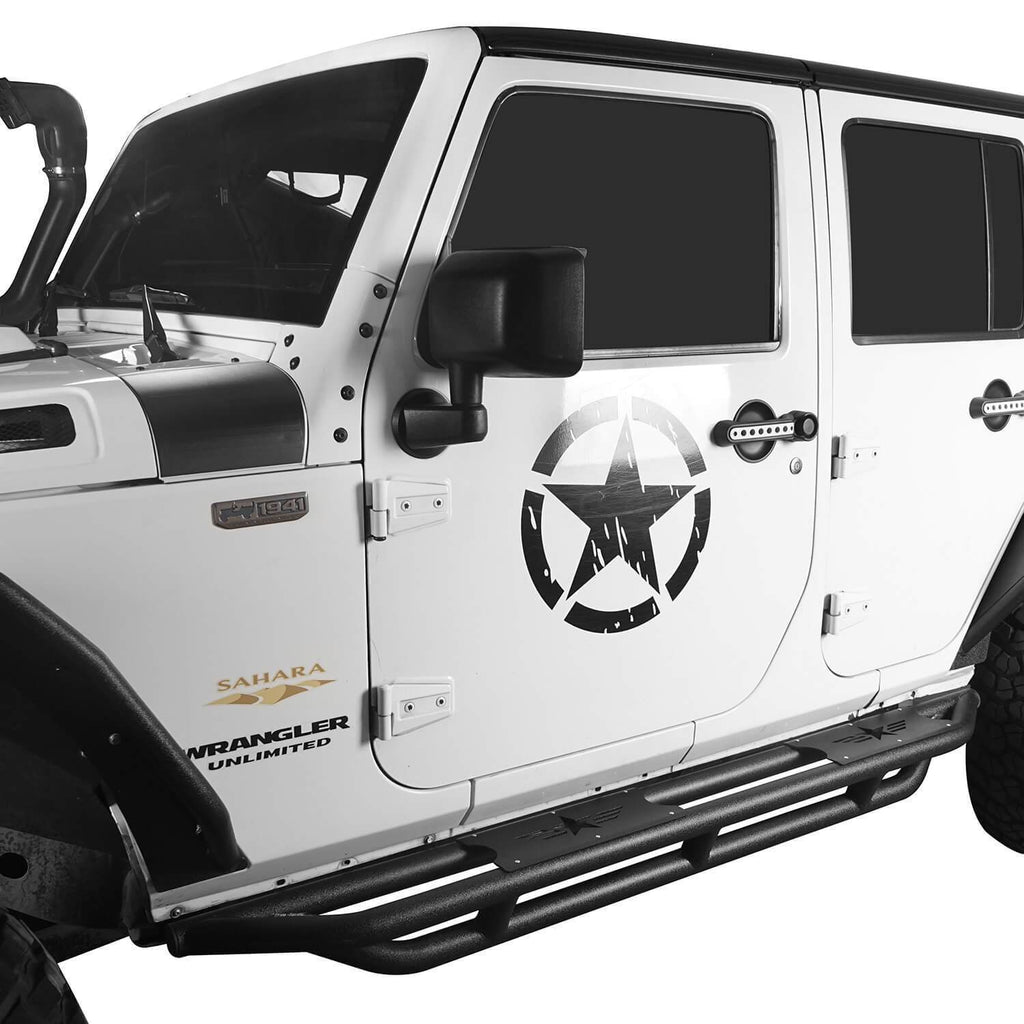 Ultralisk 4x4 Star Side Steps Running Boards(07-18 Jeep Wrangler JK 4 Doors)