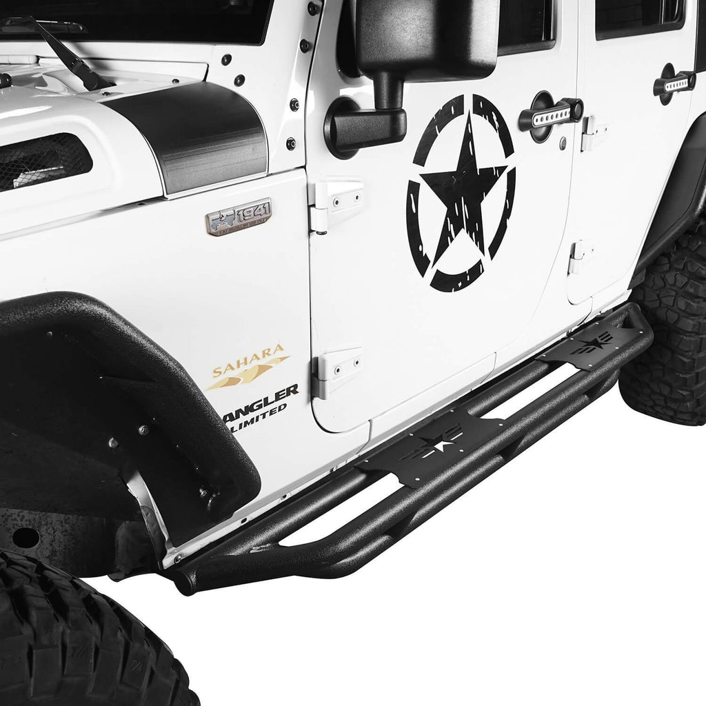 Jeep JK 4 Door Five Star Jeep Side Steps Jeep Running Boards Nerf Bar Rocker Guards for 2007-2018 Jeep Wrangler JK Jeep Body Armor bxg106 3