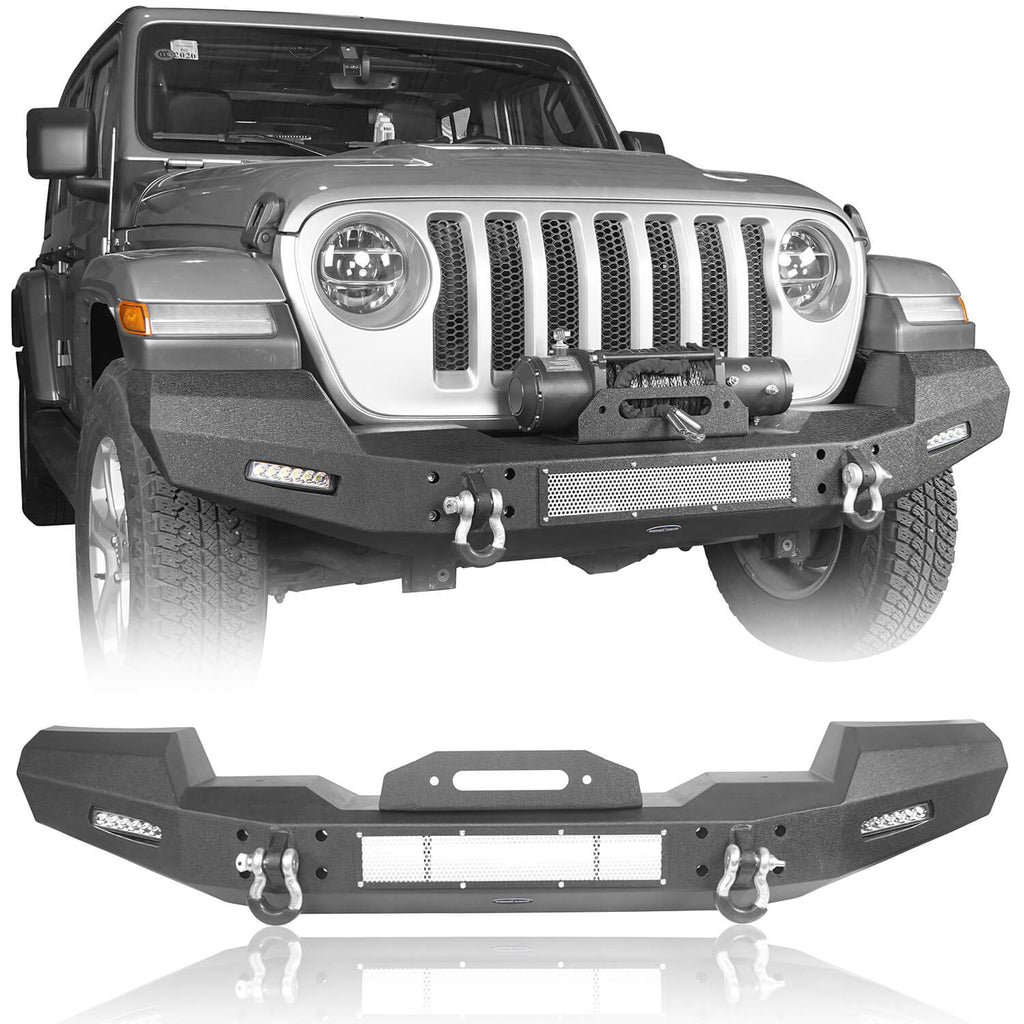 Jeep JL Climber Front Bumper w/Winch Plate for 2018-2020 Jeep Wrangler JL BXG516 1