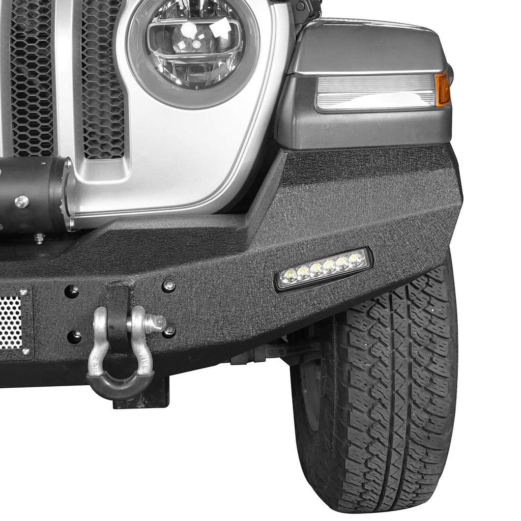 Jeep JL Climber Front Bumper w/Winch Plate for 2018-2020 Jeep Wrangler JL BXG516 4