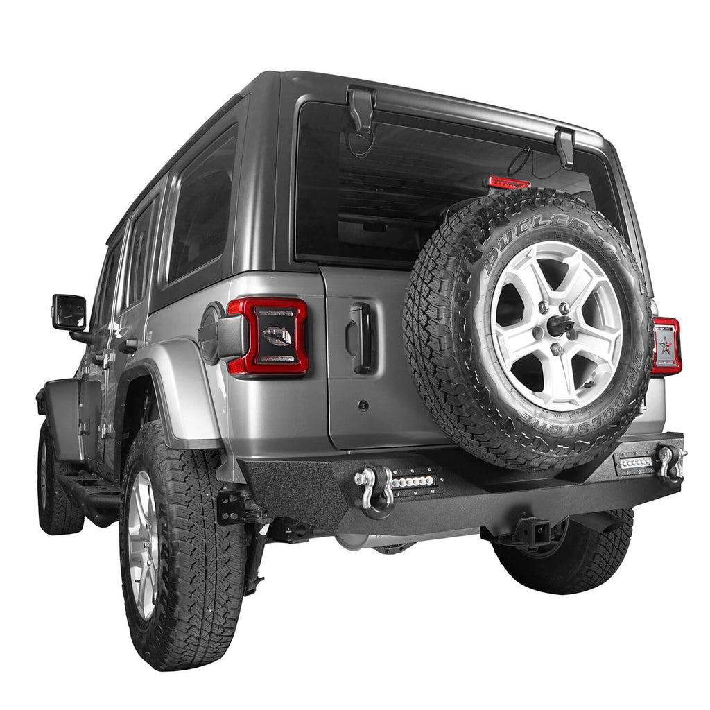 Jeep JL Mid Width Front Bumper with Winch Plate Rear Bumper for 2018-2019 Jeep Wrangler JL bxg543bxg505 Jeep Parts Jeep Body Kits u-Box offroad 11