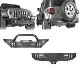 Jeep JL Mid Width Front Bumper with Winch Plate Rear Bumper for 2018-2019 Jeep Wrangler JL bxg543bxg505 Jeep Parts Jeep Body Kits u-Box offroad 1