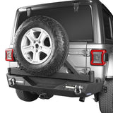 Jeep JL Rear Bumper with Tire Carrier for Jeep Wrangler JL 2018-2019 BXG504 offroad 4